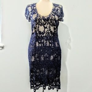 $178 Madison Marcus Lace Illusion Dress